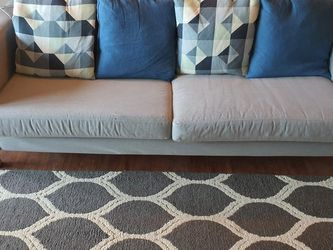 Ikea Three Seat Couch + 4 Pillows for Sale in Portland,  OR