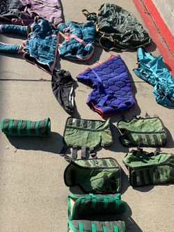 14 Piece Horse Riding / Barn Bundle ! Cover And Legs Covers! Great Condition ! Barely Used! for Sale in Sacramento,  CA