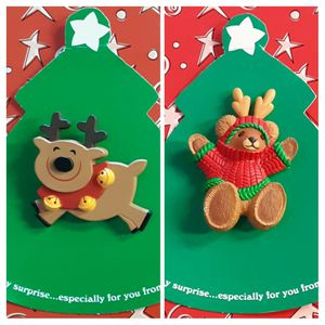 Shipping Only: Two Vintage Hallmark Christmas acrylic  pins on original cards (never worn) for Sale in Fullerton, CA