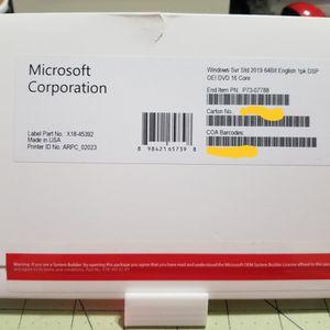 Windows Server 2019 Standard OEM - P7307788 for Sale in Jupiter, FL