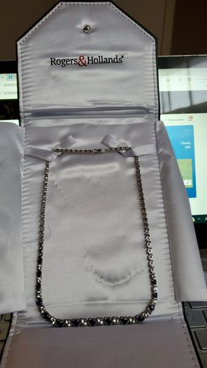 Women's Blue/White Sapphire necklace for Sale in Chicago, IL