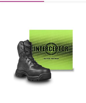 Interceptor Men's Force Tactical Steel Toe Work Boots, Black Leather, Size 11 for Sale in Falls Church, VA