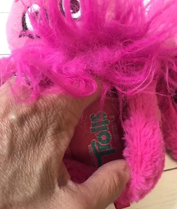 Dreamworld Trolls Poppy Slippers Girls size XL 11/12