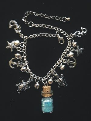 One of a Kind Local Brand Ocean In A Bottle Anklet for Sale in Portland, OR