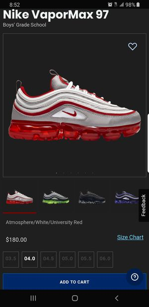 Vapormax 97 size 5 for Sale in Vernon, CA