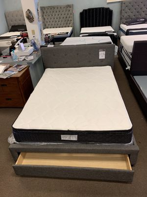 queen bed frame with drawer for Sale in Glendale, AZ