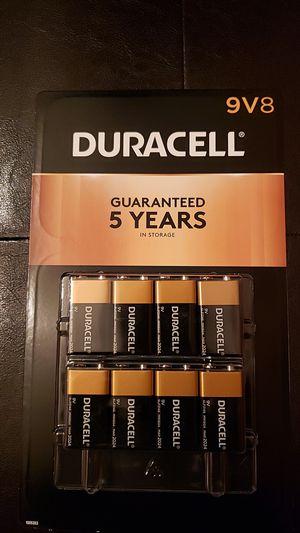 8 Pack Duracell 9V8 for Sale in Trenton, NJ