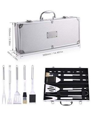 BBQ Grill Tools Set, Stainless Steel Utensils with Aluminium Case 9 Barbecue Accessories, Outdoor Grilling Kit for Dad for Sale in Irvine, CA
