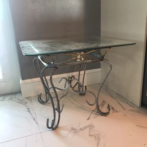 Two glass end tables for Sale in Apollo Beach, FL