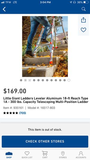 18' foot little giant ladder for Sale in Ashland City, TN