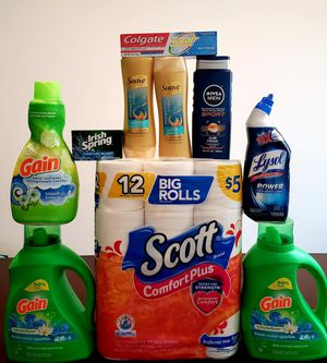 Household Bundle 150 oz detergent in total - 30$ for Sale in Glendale, AZ