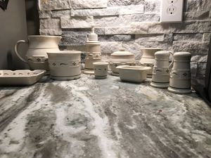 Longaberger Ivory Green Set all for $135 for Sale in Woodbury, TN