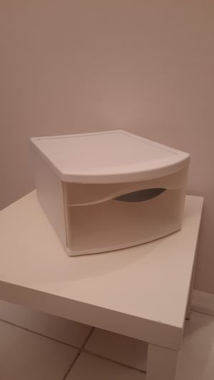 Plastic stackable drawer 12 x 16 x 8 for Sale in Plantation, FL