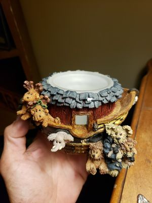Vintage Boyd's Bear THE BEARSTONE COLLECTION candleholder W/original box for Sale in Columbus, OH
