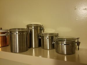 4 piece stainless steel canister set for Sale in Culver City, CA