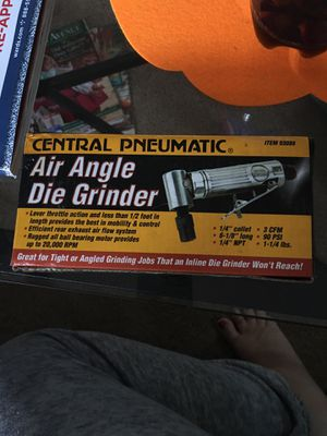 Central Pneumatic Air Angle Die Grinder for Sale in Quinton, VA