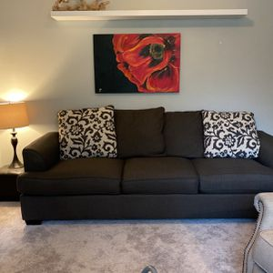 Free Gray Couch/ Queen Sofa Bed for Sale in Spring, TX
