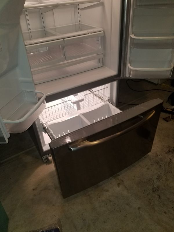 Maytag stainless steel refrigerator and freezer