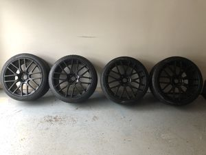 """22"""" Black Rims and Tires for Sale in Atlanta, GA"""