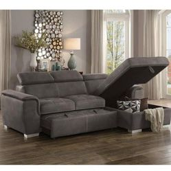 ‼️Ferriday Taupe Storage Sleeper Sectional‼️ for Sale in Austin,  TX
