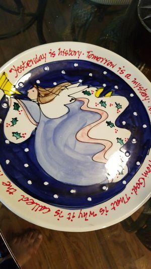 Christmas decorative plate $2 for Sale in Falls Church, VA