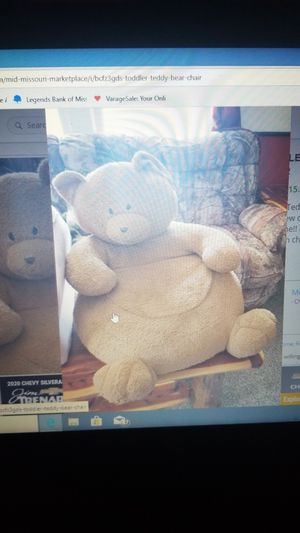 Toddler Teddy Bear Chair!! I am not sure about the brand. for Sale in Chamois, MO