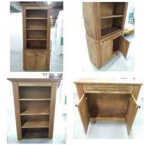 2 8ft wooden Bookshelves + Lower Base Cabinet for Sale in New Orleans, LA