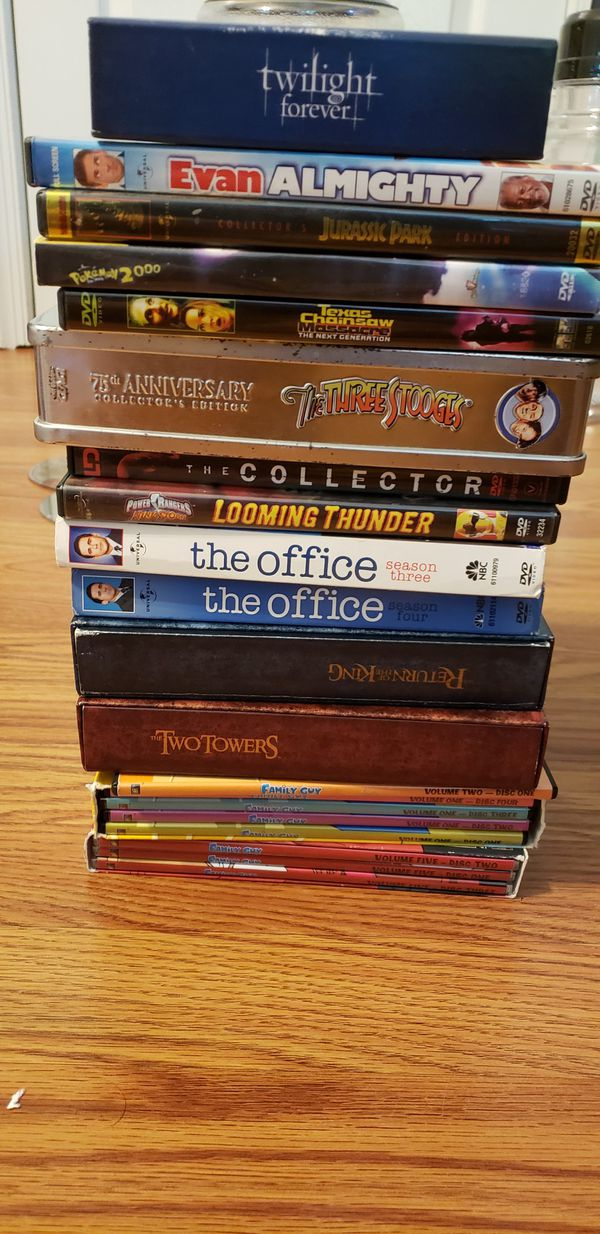 DVD collection, movies, series, anime