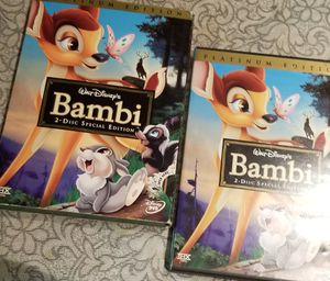 Like new bambi movie DVD part 1 part 2 for Sale in Fort Lauderdale, FL