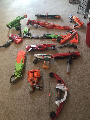 Nerf guns and ammo for Sale in Raleigh, NC