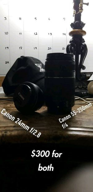 Canon lenses. Description in picture for Sale in Miami, FL