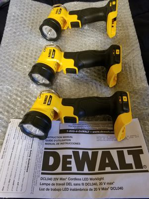 Dewalt Led Light 20V $25 Each for Sale in Norwalk, CA