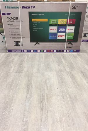 58 INCH HISENSE ROKU 4K SMART TV for Sale in Chino, CA