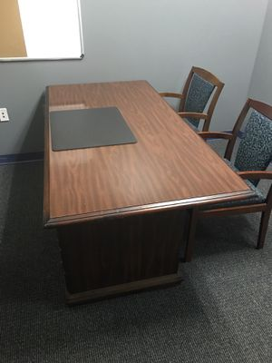 3 office desk and 2 lateral filing cabinets for sale for Sale in Norcross, GA