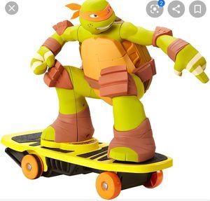 Teenage Mutant Ninja Turtles RC Skateboarding Mikey for Sale in Fresno, CA