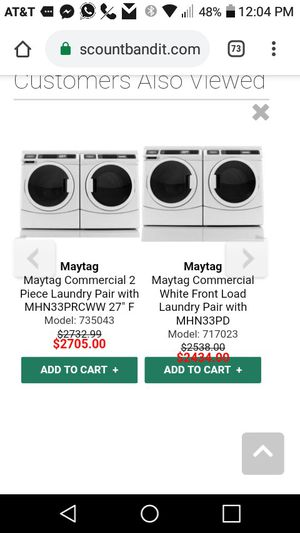 READY FOR PICK UP NOW MAYTAG WASHER & DRYER BOTH NEW AND ONCE IN A LIFE TIME DIRT CHEAP 950 CASH IN HAND for Sale in Miami, FL
