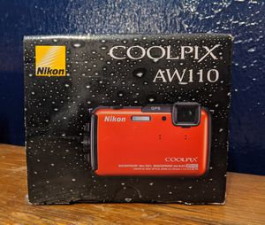 Nikon 4.2 out of 5 stars  1,090Reviews Nikon COOLPIX AW100 16 MP CMOS Waterproof Digital Camera with GPS and Full HD 1080p Video (Orange) for Sale in Baton Rouge, LA