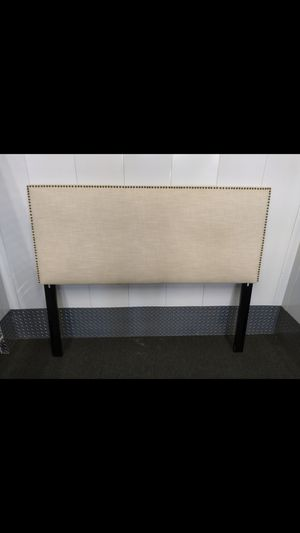 Queen Headboard & metal bed Frame for Sale in Durham, NC