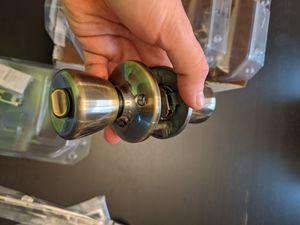 set of 5. Antique brass privacy door lock. For interior bedroom or bathroom. for Sale in Florida City, FL