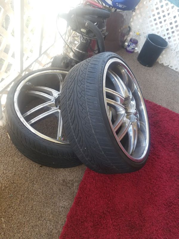 Used tires and wheels