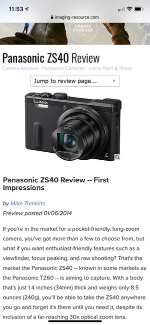 Panasonic Silver Lumix DMC-ZS40 Digital Camera with 18.1 Megapixels and 30x Optical Zoom for Sale in Lake Elsinore, CA