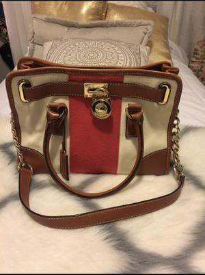 Michael Kors brown leather bag for Sale in San Bernardino, CA