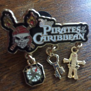 Disney Pirates of the Caribbean Jack Sparrow Icon Dangle Pin for Sale in Portola Hills, CA