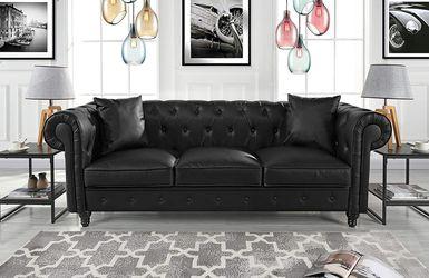 *Brand new* Divano Roma Furniture Leather Sofa, Black for Sale in Dublin,  OH