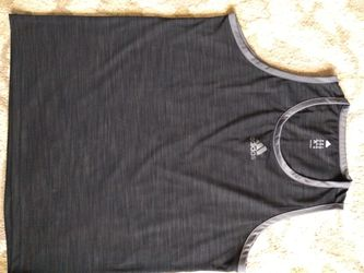 Adidas men's XL black tank top for Sale in Washington,  IL