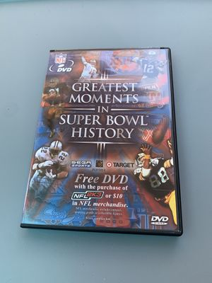 Greatest Moments in Super Bowl History DVD for Sale in Houston, TX