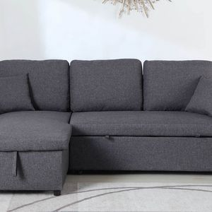 NEW, Grey Sectional w/ Pull-Out Sleeper, SKU#TCCM8067 for Sale in Tustin, CA