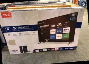 "TCL 4K 55"" smart TV ROKU! NEW OPEN BOX!! 📺📺📺📺 GZCN for Sale in Dallas, TX"