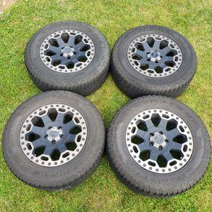 5x120 Black Rhino Warlord 17x8 wheels with 255/65/17 Yokohama ATs for Sale in Kent, WA