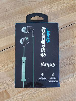 Skullcandy S2CDY-K602 Method Sport Earbuds (Mint Swirl/Black) for Sale in Norwalk, CA